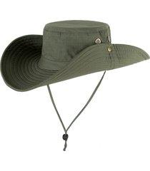 sombrero tapa pescador protector solar selva camuflaje unisexo -verde