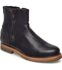 joss high zip w shoes boots ankle boots ankle boot - flat svart björn borg