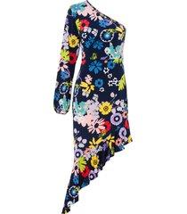 abito monospalla (blu) - bodyflirt boutique