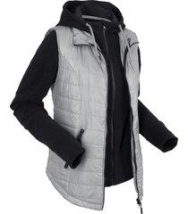 gilet funzionale 3 in 1 con giacca in pile (grigio) - bpc bonprix collection
