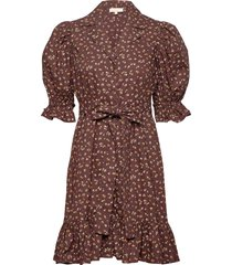 50's kitchen dress korte jurk bruin by ti mo