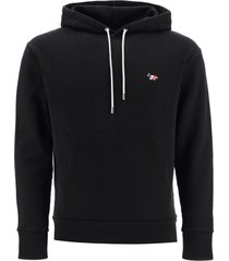hoodie with tricolour fox patch