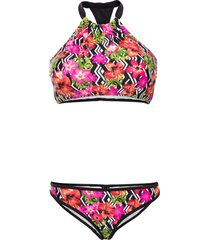 bikini a bustier (set 2 pezzi) (nero) - rainbow