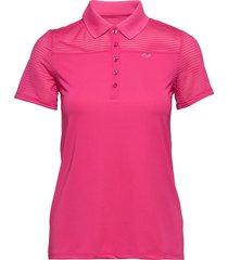 miko poloshirt t-shirts & tops polos rosa röhnisch