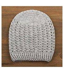 100% alpaca hat, 'grey stars align' (peru)