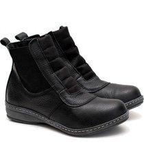 botineta de cuero negra valentia calzados brenda 28