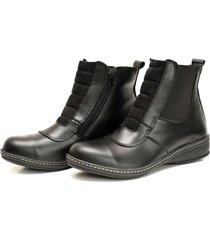 botineta negra valentia calzados brenda 28 cuero