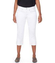 women's nydj marilyn straight leg capri jeans, size 18 - white