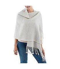 100% alpaca shawl, 'whispering warmth' (peru)