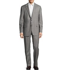 regular-fit millburn wool windowpane suit