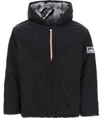 aries reversible furry parka jacket