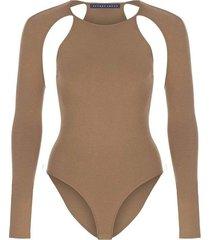 cutout knit bodysuit