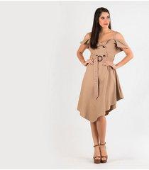 vestidos camel derek 817996