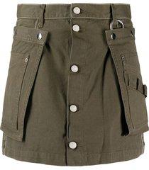 diesel a-line utility belt skirt - green