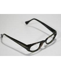 fossil maggie dark zebra plastic spring-hinged rx eyeglass sunglass frame