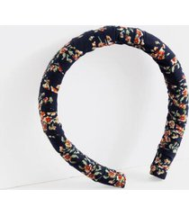 dolores floral puff headband - navy
