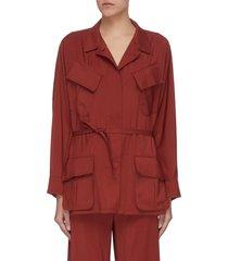 'vanna' slanted pocket virgin wool cargo jacket