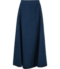 mm6 a-line denim skirt