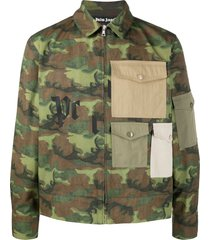 military green camouflage print shirt