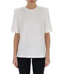 shoulder-padded t-shirt