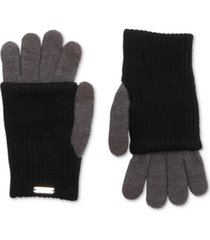 steve madden layered-look tech gloves