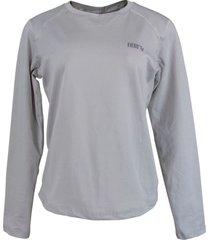 blusa tã©rmica feminina segunda pele thermo premium original regular fit - cor cinza - cinza - feminino - poliã©ster - dafiti
