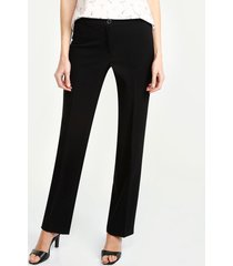 pantalon armonia floral clasico bota recta. negro 6