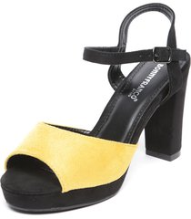 sandalia amarillo/negro bonnyfranco