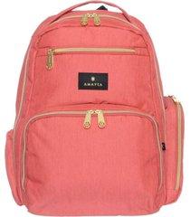 mochila maternal rosa amayra cambiador