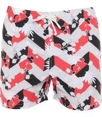 maison kitsuné swim trunks