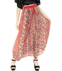 falda pippa angkor rojo - calce holgado
