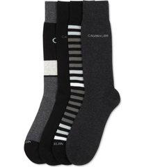 calvin klein men's 4-pk. crew dress socks