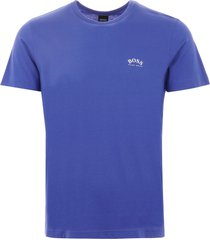 boss curved logo t-shirt - blue 50412363