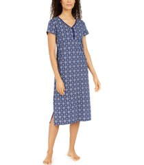 charter club cotton printed jersey nightgown, created for macy's