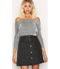 noisy may nmsunny short dnm skater skirt blck minikjolar