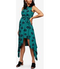 a pea in the pod maternity handkerchief-hem midi dress