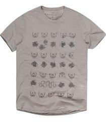 camiseta khelf  masculina flamê caveira militar - kanui