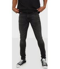 nudie jeans skinny lin worn black jeans black