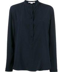 stella mccartney eva silk shirt - blue