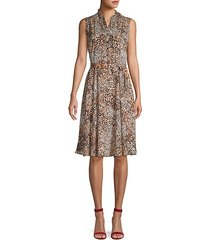 leopard-print sleeveless dress