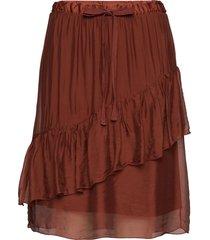 skirt w. elastic and w. wide drawstring knälång kjol röd coster copenhagen