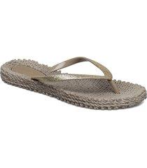 flipflop with glitter shoes summer shoes flip flops grå ilse jacobsen