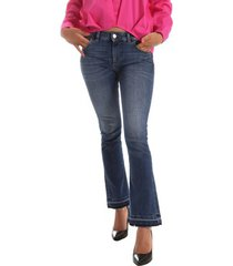 bootcut jeans byblos blu 2wj0012 te0126