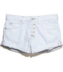 women's free people romeo rolled cutoff denim shorts, size 26 - white