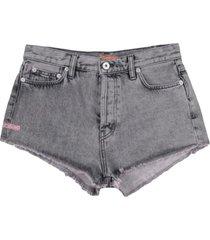 heron preston denim shorts