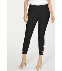 thalia sodi snap-stud jeggings, created for macy's
