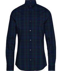 d2. tp broadcloth plaid slim lbd overhemd casual blauw gant