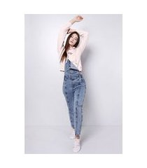 macacão jeans blue médio gang feminino