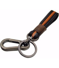 car key real leather stripe key chain ring grip strap fit porsche mercedes bmw c