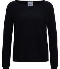 allude long-sleeved black cashmere sweater